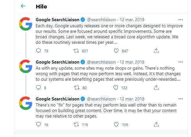 cambio algorithmo