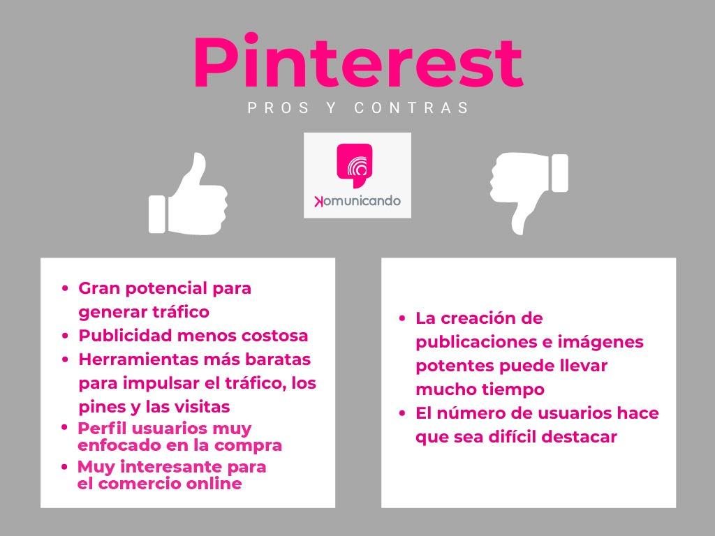 Ventajas y desventajas de Pinterest