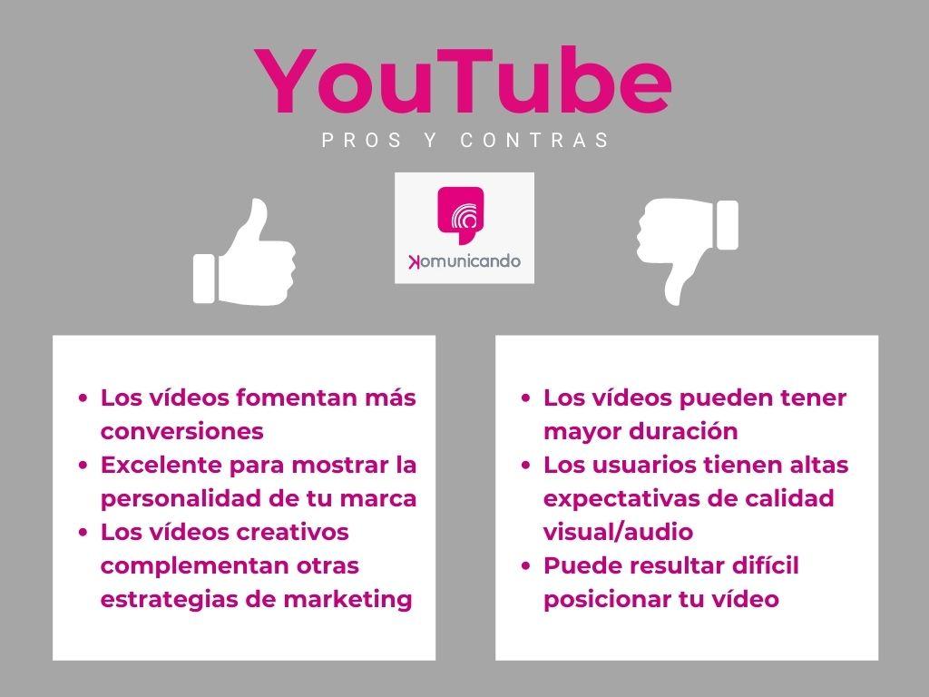 Ventajas y desventajas de YouTube